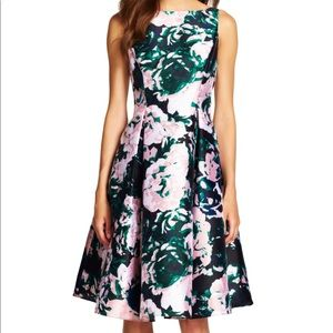 NEW Adrianna Papell floral midi dress size 2